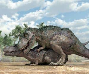 Apareamiento de los dinosaurios