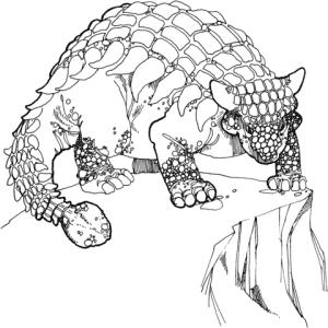 Ankylosaurus para imprimir